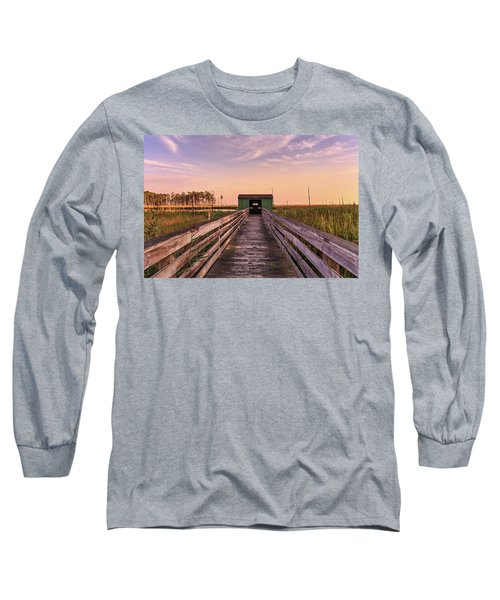 Long Sleeve T-Shirt featuring the photograph Blackwater Blind by Jennifer Casey