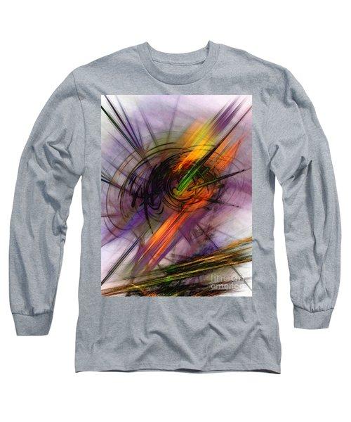 Blazing Abstract Art Long Sleeve T-Shirt