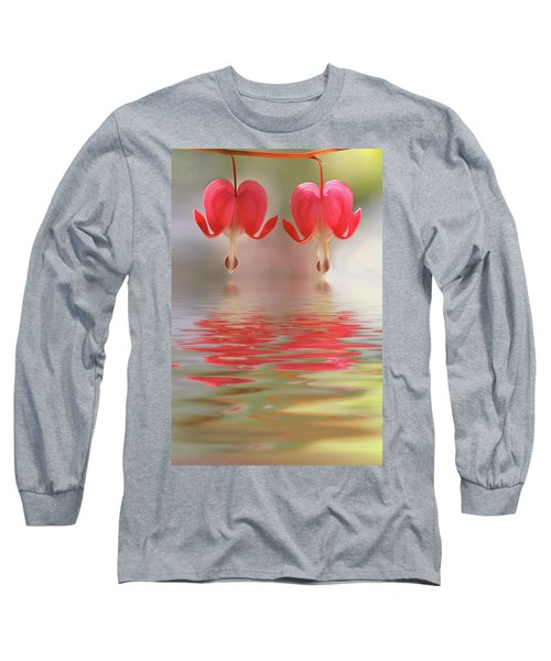 Long Sleeve T-Shirt featuring the photograph Bleeding Hearts - Reflections Of Love by Peggy Collins