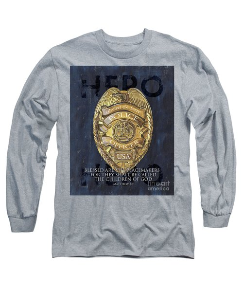 Blessed Are The Peacemakers Long Sleeve T-Shirt by Debbie DeWitt