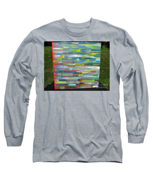Long Sleeve T-Shirt featuring the painting Blindsided by Jacqueline Athmann