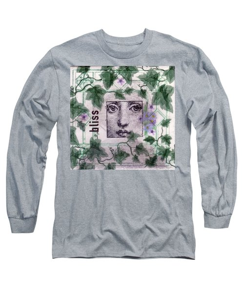 Long Sleeve T-Shirt featuring the mixed media Bliss On Tile by Desiree Paquette