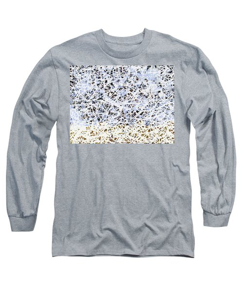 Long Sleeve T-Shirt featuring the digital art Blizzard Homage To Jackson by Walter Fahmy