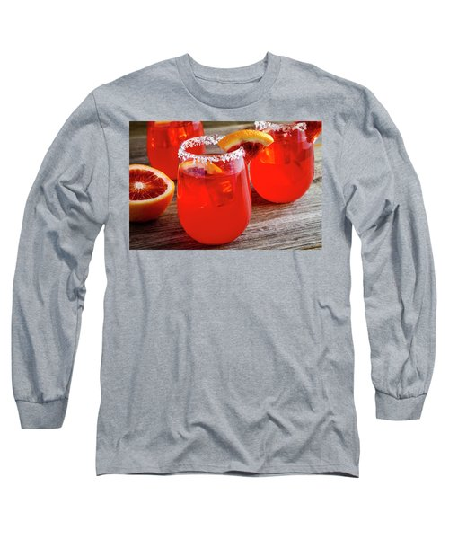 Long Sleeve T-Shirt featuring the photograph Blood Orange Margaritas by Teri Virbickis