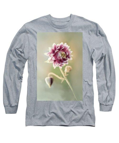 Blooming Columbine Flower Long Sleeve T-Shirt
