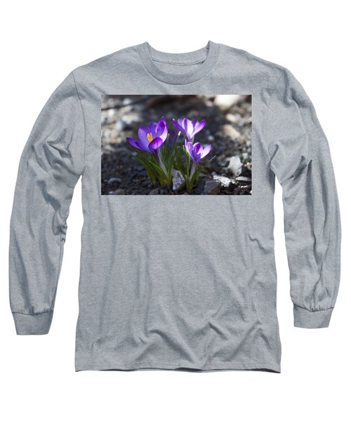 Long Sleeve T-Shirt featuring the photograph Blooming Crocus #3 by Jeff Severson
