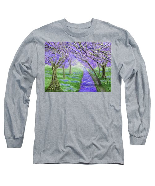 Long Sleeve T-Shirt featuring the mixed media Blossoms by Angela Stout
