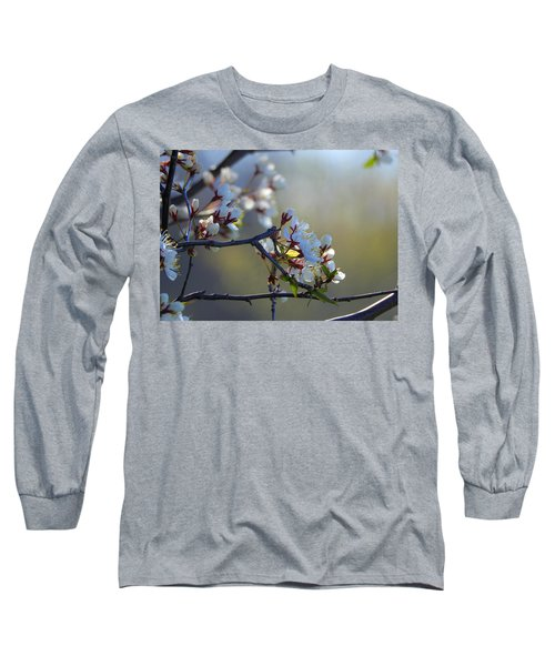 Blossoms Long Sleeve T-Shirt by Betty-Anne McDonald