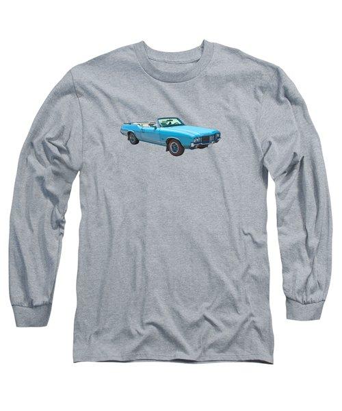 Blue 1971 Oldsmobile Cutlass Supreme Convertible Long Sleeve T-Shirt