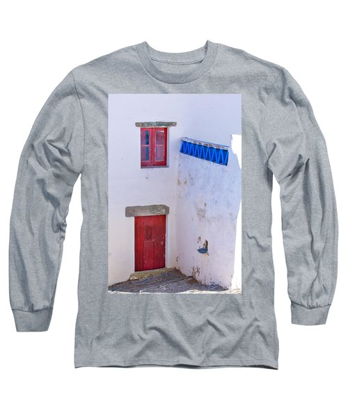 Long Sleeve T-Shirt featuring the photograph Blue And Red by Edgar Laureano