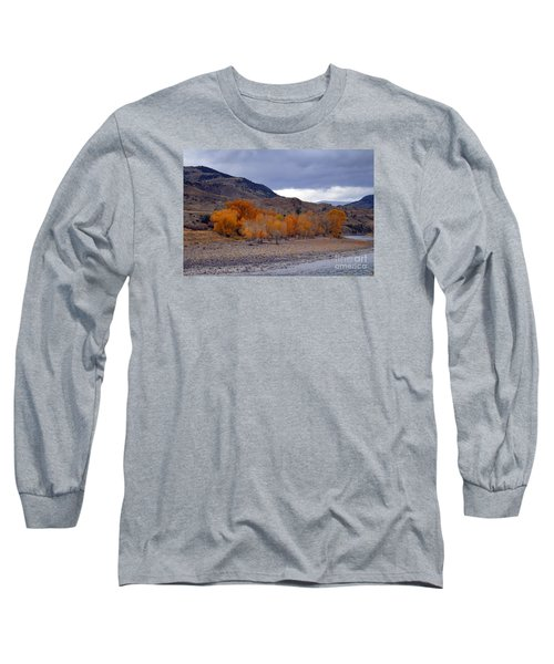 Long Sleeve T-Shirt featuring the photograph Blue And Yellow  by Irina Hays