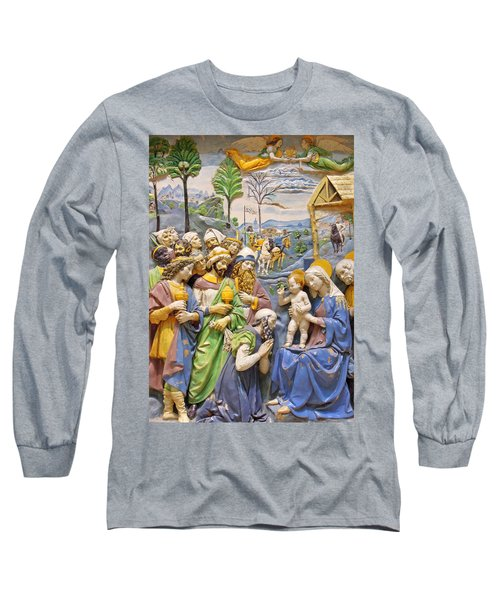 Long Sleeve T-Shirt featuring the photograph Blue And Yellow by Munir Alawi