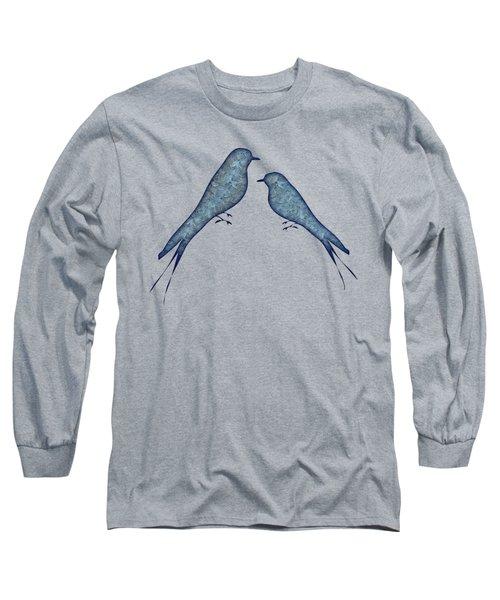 Blue Birds 2  Long Sleeve T-Shirt
