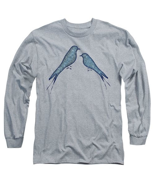 Blue Birds 2  Long Sleeve T-Shirt