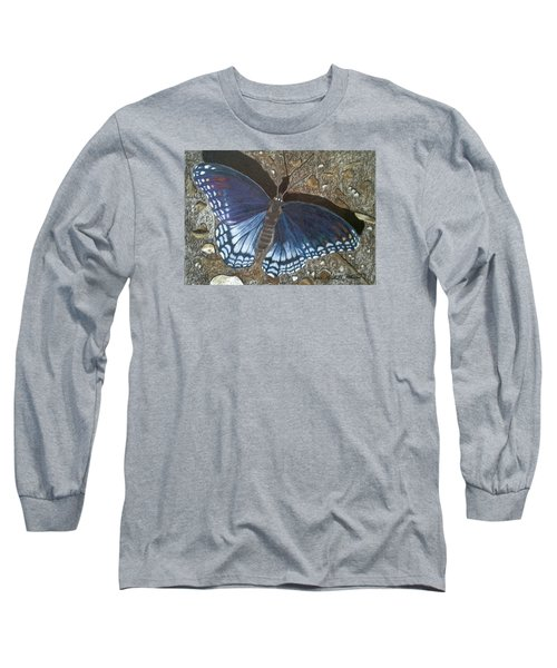 Blue Butterfly - Savannah Charaxes Long Sleeve T-Shirt