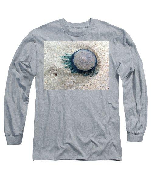 Blue Button #2 Long Sleeve T-Shirt