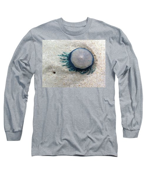 Blue Button #2 Long Sleeve T-Shirt
