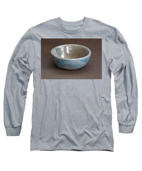 Blue Ceramic Drippy Bowl Long Sleeve T-Shirt by Suzanne Gaff