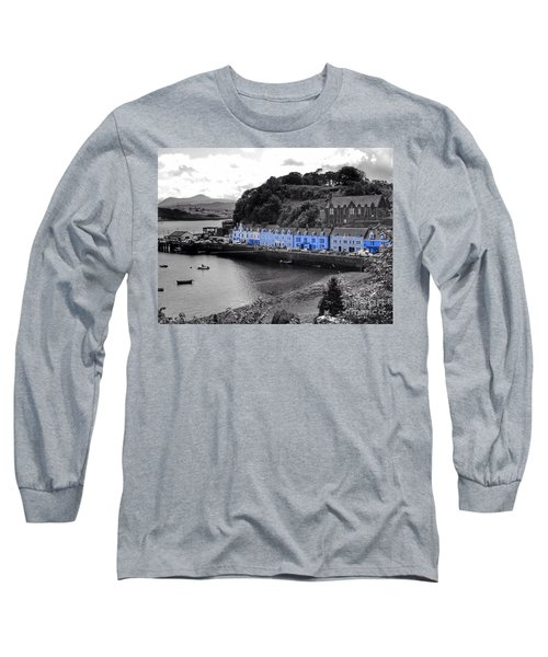 Blue Cottages At Portree Harbour 5 Long Sleeve T-Shirt