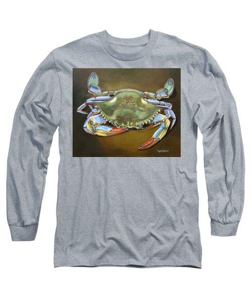 Blue Crab Long Sleeve T-Shirt by Phyllis Beiser