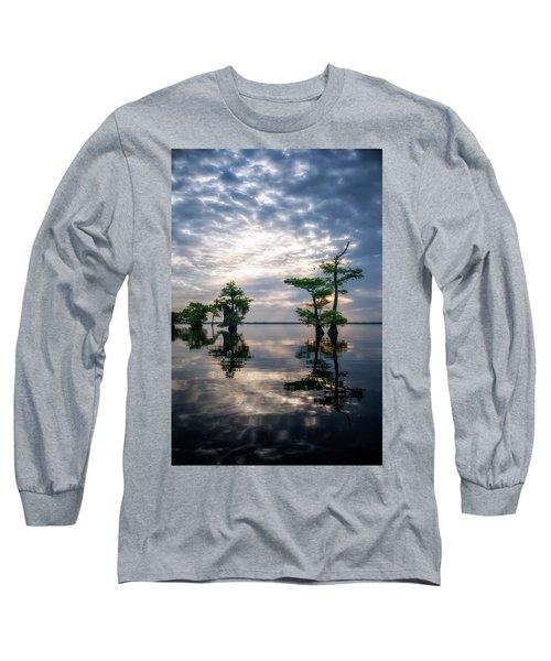Blue Cypress Sunrise #1 Long Sleeve T-Shirt