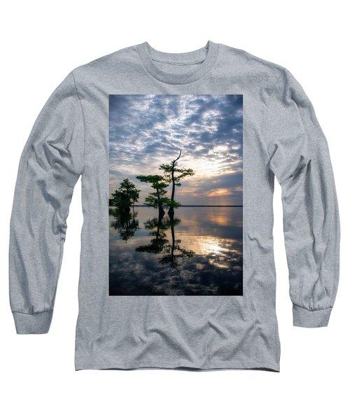 Blue Cypress Sunrise #2 Long Sleeve T-Shirt