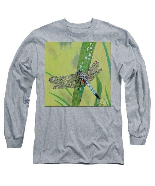 Blue Dasher Long Sleeve T-Shirt by Terri Mills