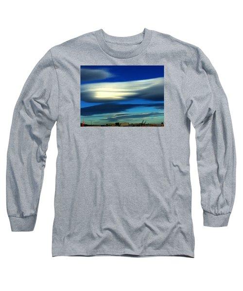 Blue Day Spain  Long Sleeve T-Shirt by Colette V Hera Guggenheim