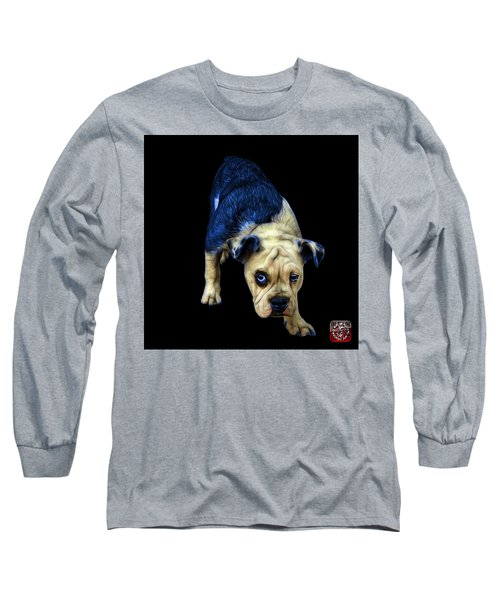 Blue English Bulldog Dog Art - 1368 - Bb Long Sleeve T-Shirt