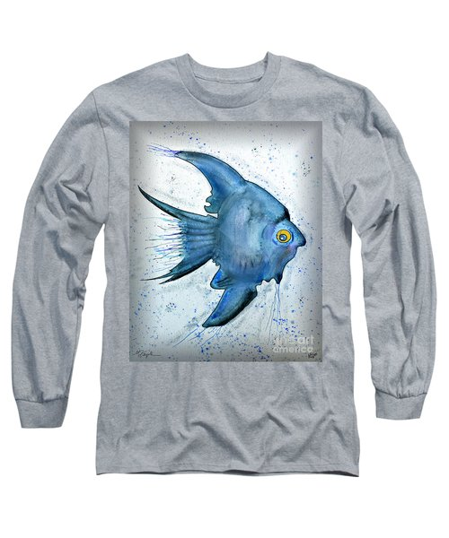 Long Sleeve T-Shirt featuring the photograph Blue Fish by Walt Foegelle
