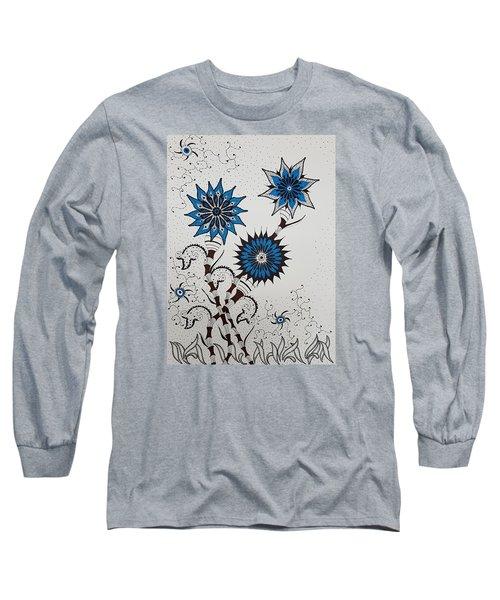 Blue Flower 4 Long Sleeve T-Shirt