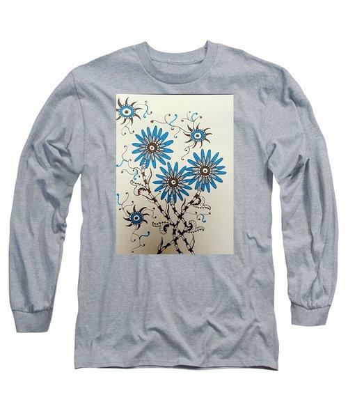 Blue Flowers 2 Long Sleeve T-Shirt