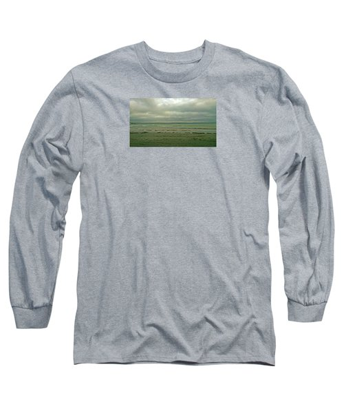 Blue Green Grey Long Sleeve T-Shirt by Anne Kotan