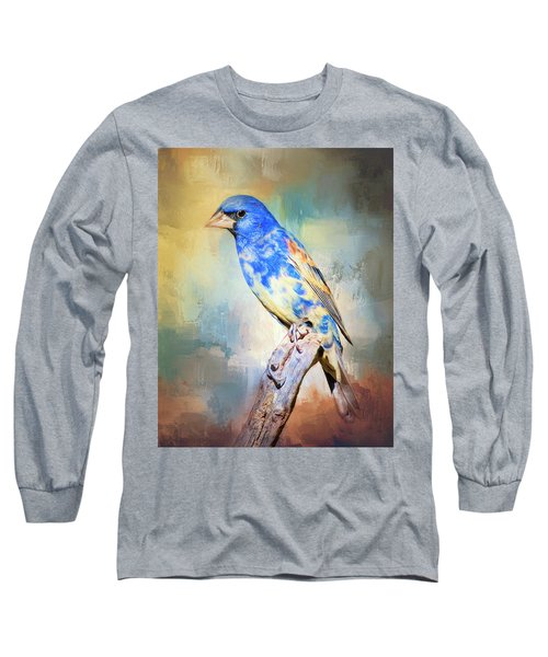 Blue Grosbeak Long Sleeve T-Shirt