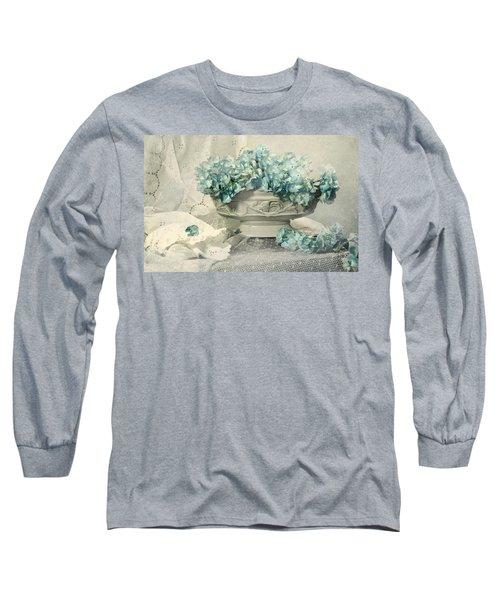 Blue Heart Long Sleeve T-Shirt by Diana Angstadt