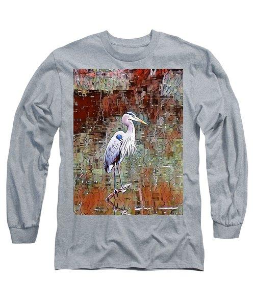 Blue Heron Iv Long Sleeve T-Shirt