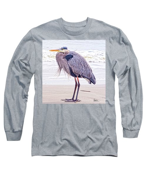 Blue Heron Watching Long Sleeve T-Shirt
