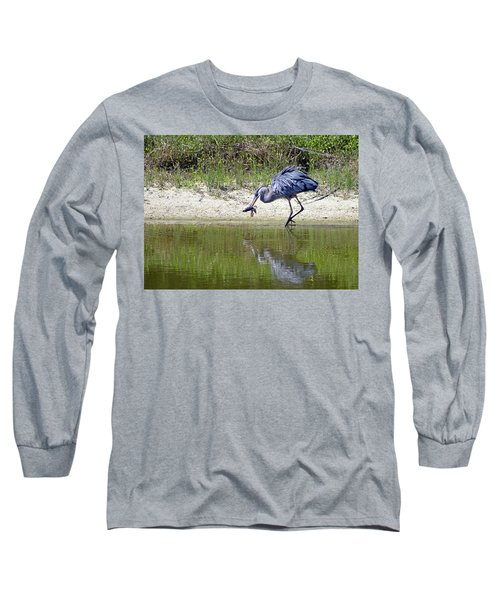 Blue Heron's Lucky Day Long Sleeve T-Shirt