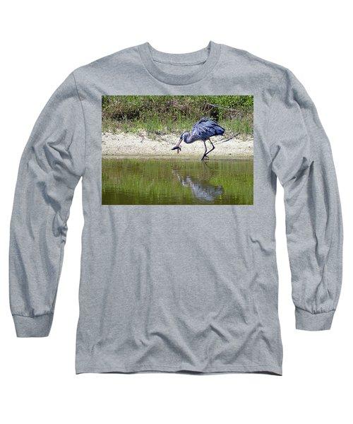 Blue Heron's Lucky Day Long Sleeve T-Shirt