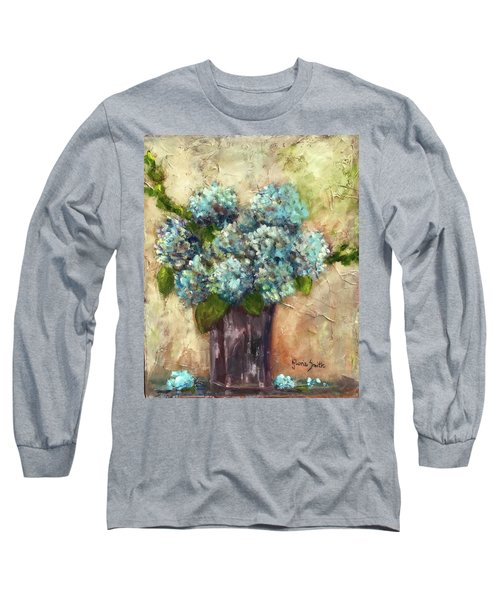 Blue Hydrangeas Long Sleeve T-Shirt