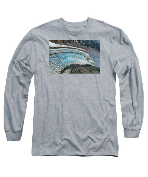 Blue Ice Glacier Alaska Long Sleeve T-Shirt