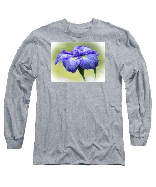 Blue Iris Long Sleeve T-Shirt by Venetia Featherstone-Witty