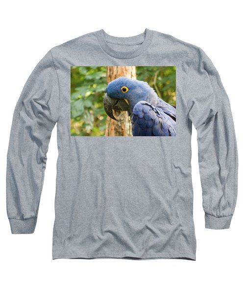 Blue Macaw Long Sleeve T-Shirt