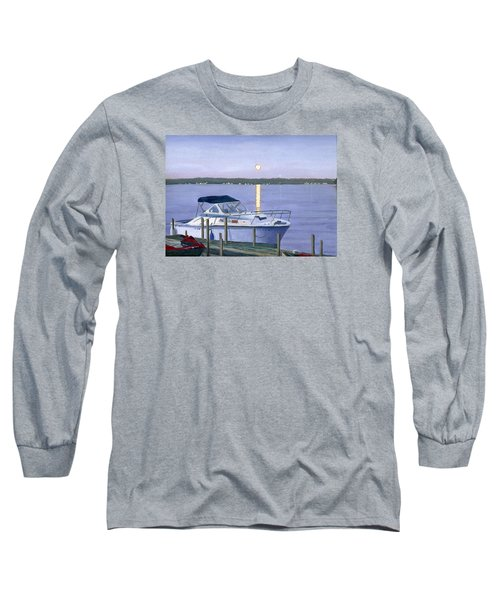 Long Sleeve T-Shirt featuring the painting Blue Moon by Lynne Reichhart