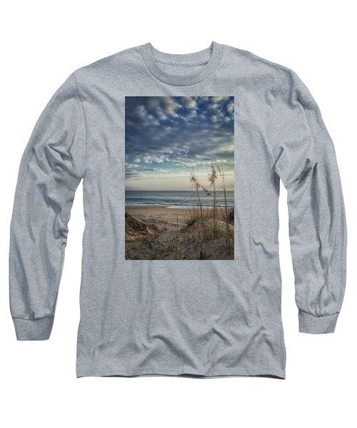 Blue Morning Long Sleeve T-Shirt by David Cote