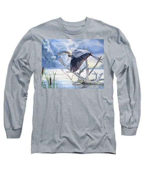 Blue Morning Flight Long Sleeve T-Shirt
