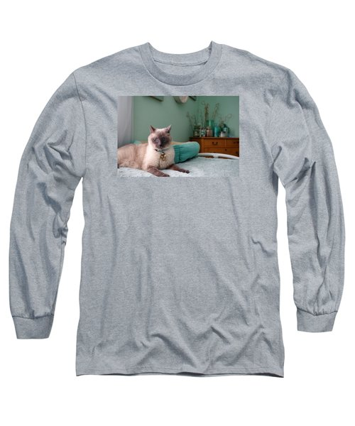Blue On Bed Long Sleeve T-Shirt