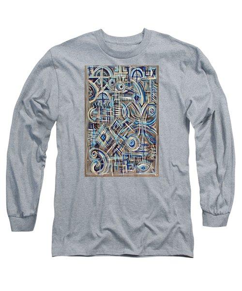 Blue Raucous Long Sleeve T-Shirt by Paul Moss