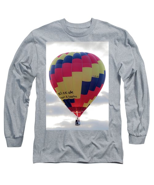 Blue, Red And Yellow Hot Air Balloon Long Sleeve T-Shirt