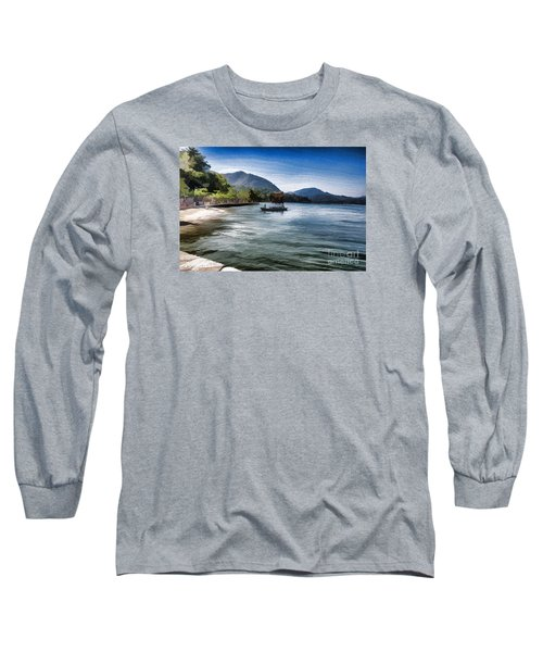 Blue Sea Long Sleeve T-Shirt by Pravine Chester